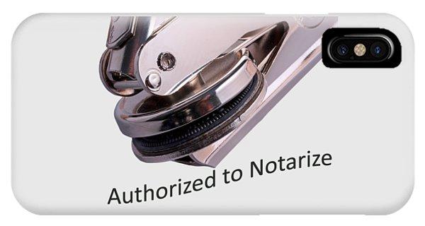 Notary Public Slogan IPhone Case