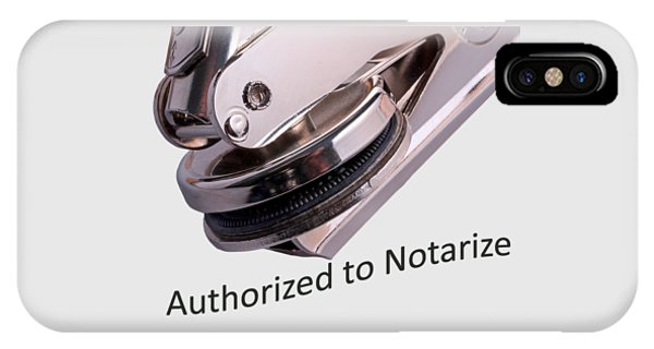Notary Public Slogan IPhone Case