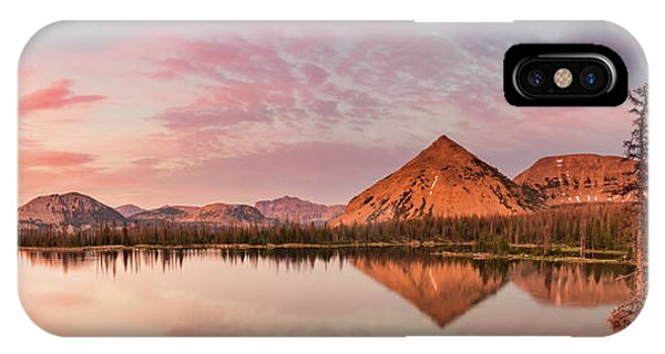 Notch Lake Panorama Phone Case by Johnny Adolphson
