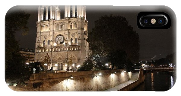 Notre Dame Cathedral From Petit Pont IPhone Case