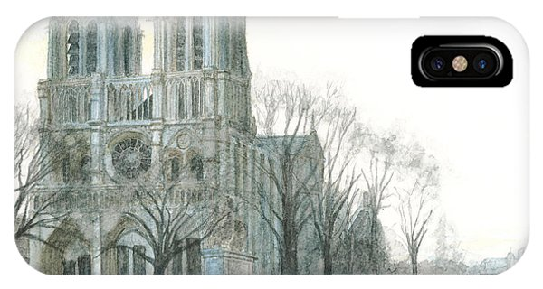 Notre Dame Cathedral In March IPhone Case