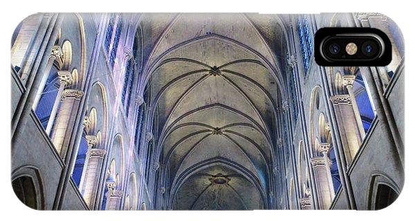 Notre Dame De Paris - A View From The Floor IPhone Case