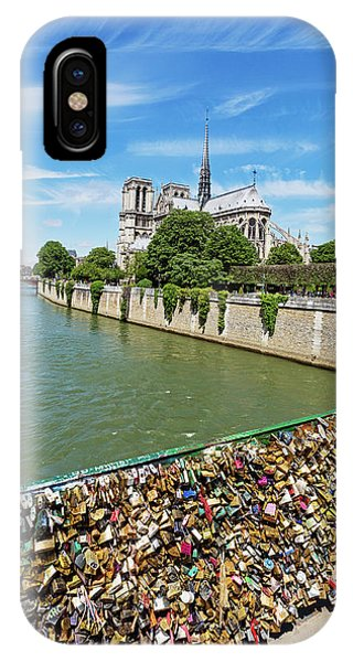 IPhone Case featuring the photograph Notre Dame Love Locks by Melanie Alexandra Price