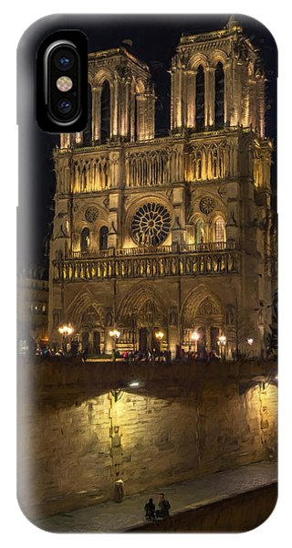 Notre Dame Night Painterly IPhone Case