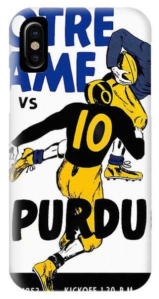 Purdue Boilermakers iPhone Case - Notre Dame V Purdue 1953 Football Program by John Farr