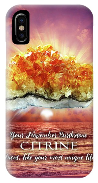 November Birthstone Citrine IPhone Case