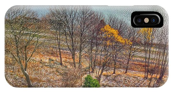 November Snow On Casco Bay IPhone Case