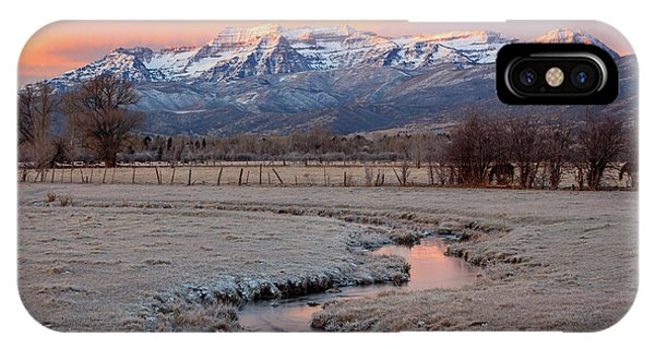 November Sunrise In The North Fields. IPhone Case