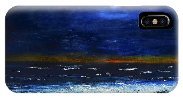 November Sunset At The Beach IPhone Case