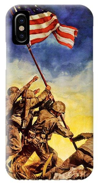 Now All Together Vintage War Poster Restored IPhone Case