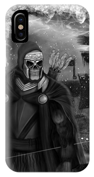 Now Or Never - Black And White Fantasy Art IPhone Case