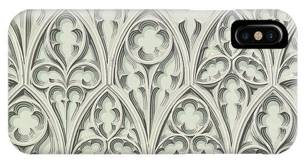 Repeat iPhone Case - Nowton Court by Augustus Welby Pugin