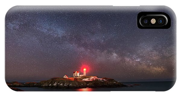 Nubble Light iPhone X Case - Nubble Light At Night by Michael Ver Sprill