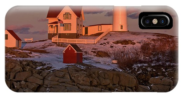 Nubble Light At Sunset IPhone Case