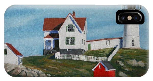 Nubble Light iPhone X Case - Nubble Light House by Paul Walsh