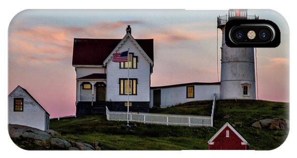 Nubble Lighthouse At Dusk  IPhone Case