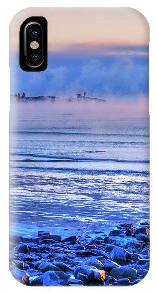 Nubble Lighthouse In Winter - York, Maine IPhone Case