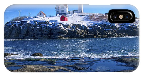 Nubble Lighthouse -winter 2015 IPhone Case