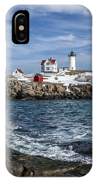 Nubble Lighthouse Winter IPhone Case