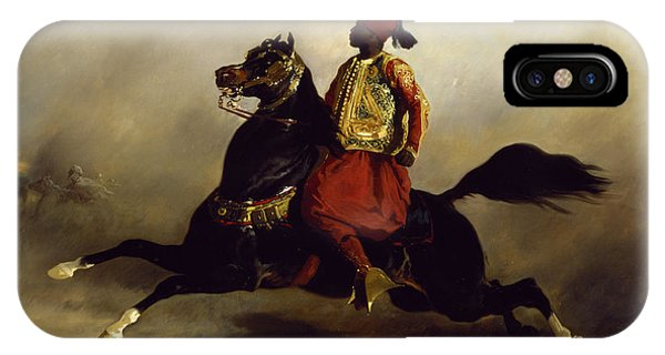 Horseman iPhone Case - Nubian Horseman At The Gallop by Alfred Dedreux or de Dreux