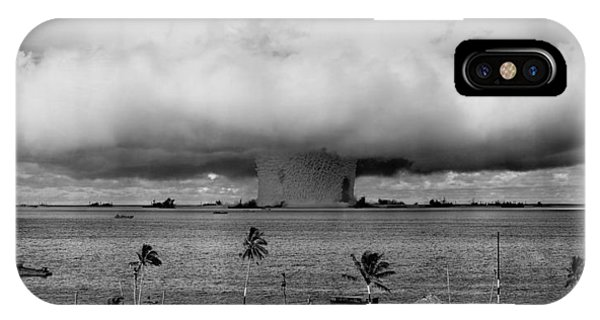Atomic iPhone Case - Nuclear Weapon Test - Bikini Atoll by War Is Hell Store