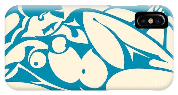 Nude Blue IPhone Case