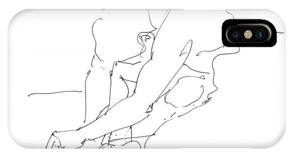 IPhone Case featuring the drawing Nude Male Drawings 8 by Gordon Punt