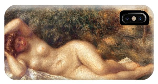 Nudes iPhone X Case - Nude by Pierre Auguste Renoir