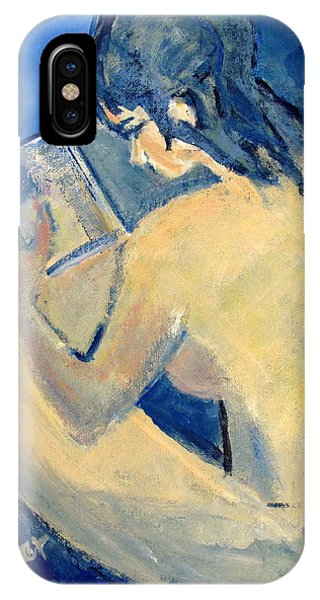 Nude With Nose In Book IPhone Case