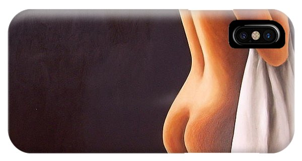 Nude With Towel Phone Case by Trisha Lambi
