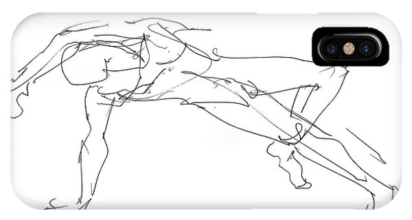 Nude_male_drawings_23 IPhone Case