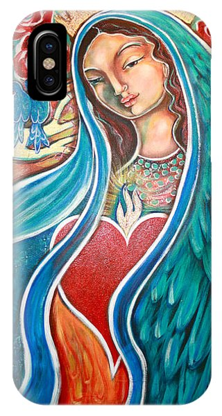 Bluebird iPhone Case - Nuestra Senora Maestosa by Shiloh Sophia McCloud