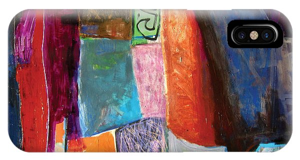 IPhone Case featuring the painting La Nuit by Diane Desrochers