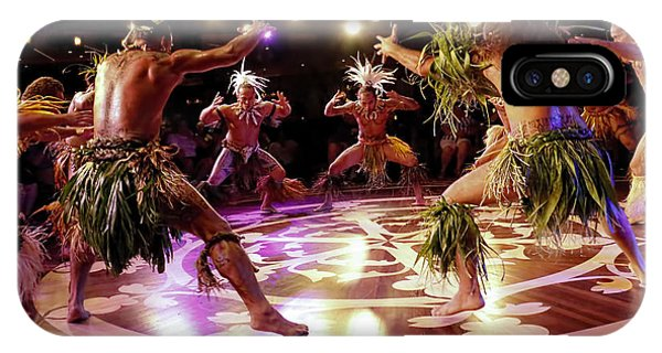 Cruise Ship iPhone Case - Nuku Hiva Dancers by David Smith