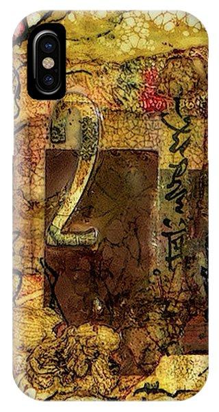 Simple iPhone Case - Number 2 Encaustic Collage by Bellesouth Studio