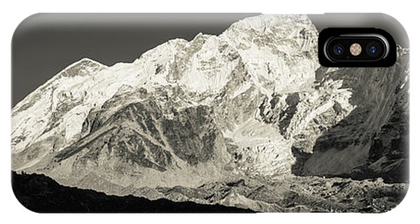 IPhone Case featuring the photograph Nuptse Peak On The Khumbu Glacier by Owen Weber