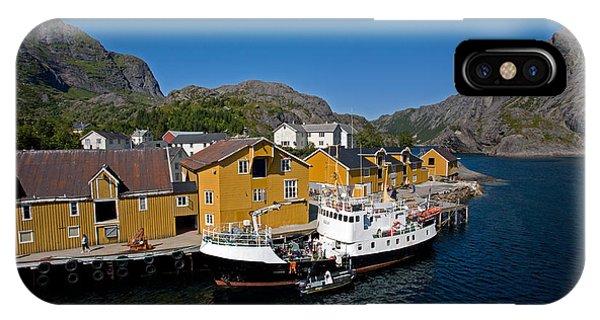 Nusfjord Fishing Village IPhone Case