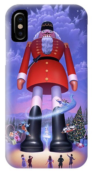 Christmas Tree iPhone Case - Nutcracker by Jerry LoFaro