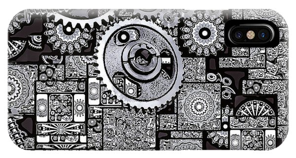 IPhone Case featuring the digital art Nuts And Bolts by Eleni Mac Synodinos