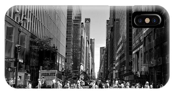 Nyc 42nd Street Crosswalk IPhone Case