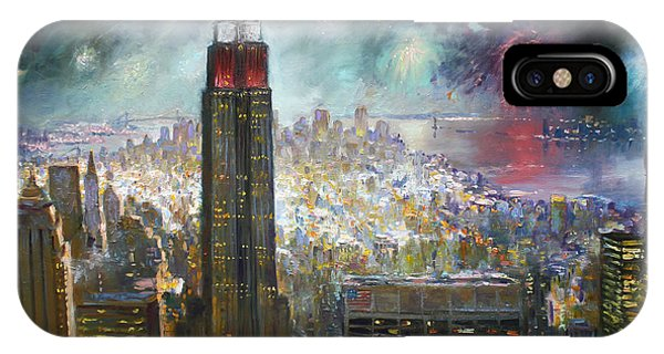 Empire iPhone Case - Nyc. Empire State Building by Ylli Haruni