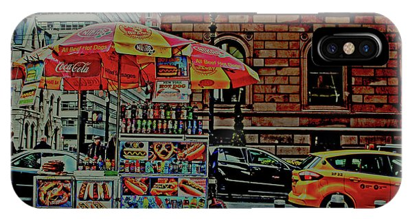 New York City Food Cart IPhone Case