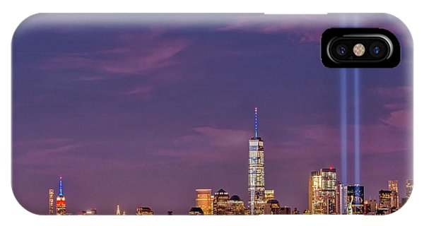 Statue Of Liberty iPhone Case - Nyc  Landmarks Wtc Tribute In Light by Susan Candelario