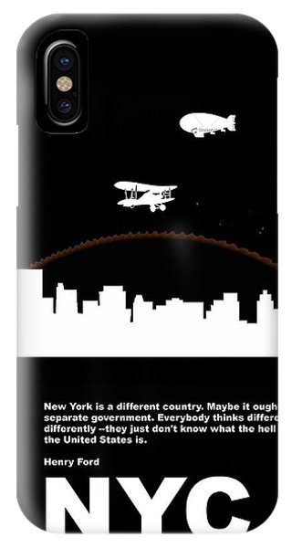 Broadway iPhone Case - Nyc Night Poster by Naxart Studio
