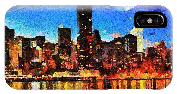Nyc Skyline At Night IPhone Case