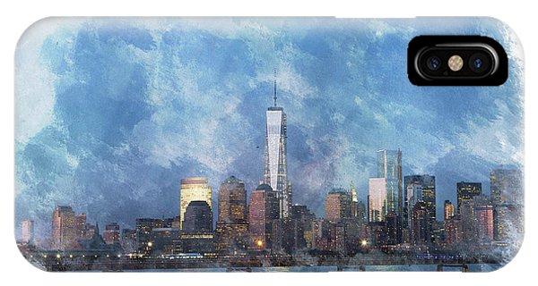 Nyc Skyline Portrait IPhone Case