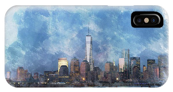 Nyc Skyline Portrait IPhone Case