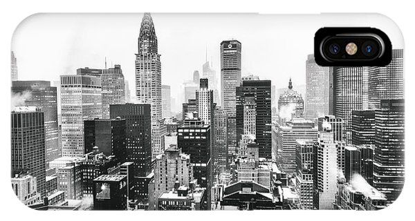 Cityscape iPhone Case - Nyc Snow by Vivienne Gucwa