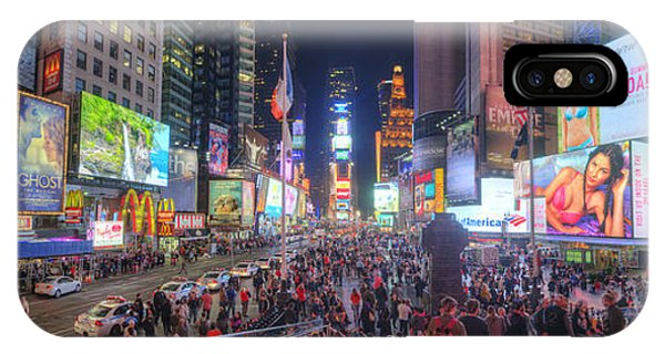 Nyc Times Square Panorama IPhone Case