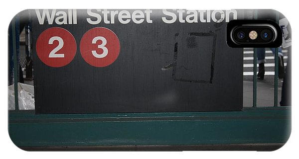 Nyc Wall Street Subway Entrance IPhone Case